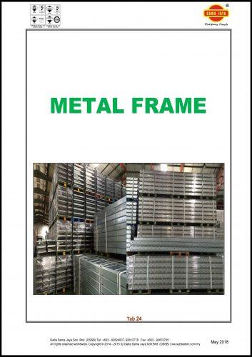 Tab 24 - Metal Frame Catalogue