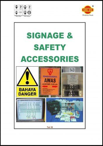 Tab 18 - Safety Signage & Locks Catalogue
